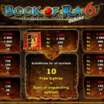 book of ra 6 paytable