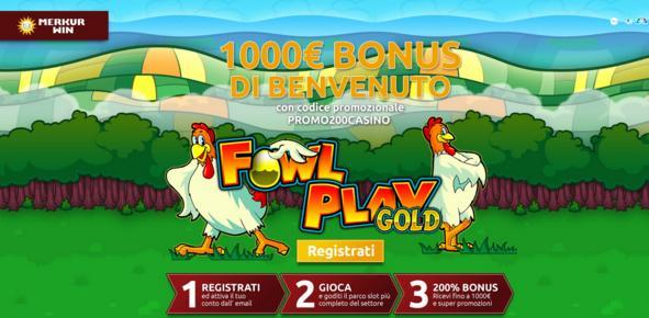 Slot Machine Merkur Win Fowl Play Gold (Gallina dalle uova d'oro)