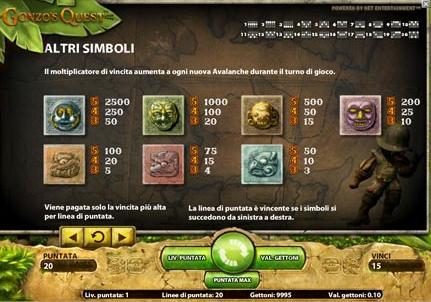slot+machine gonzos quest simboli