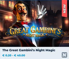 nuova slot machine online great gambini's night magic