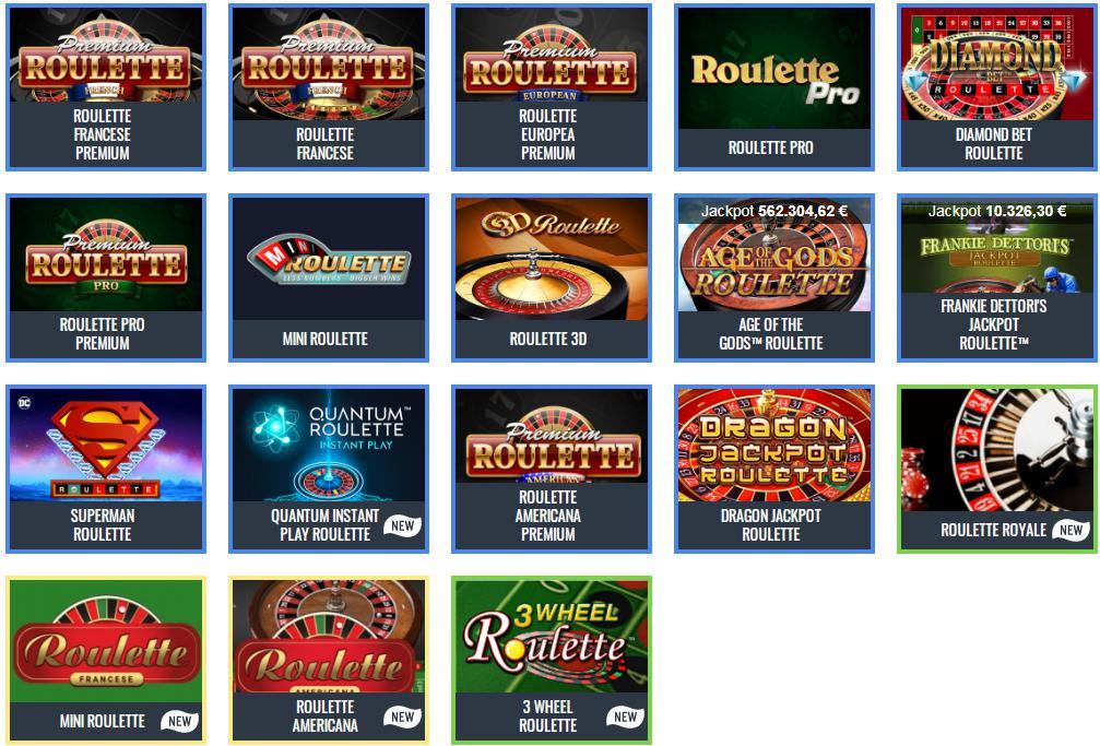 roulettes online complete con bonus senza deposito 10 euro + 1000€ bonus benvenuto