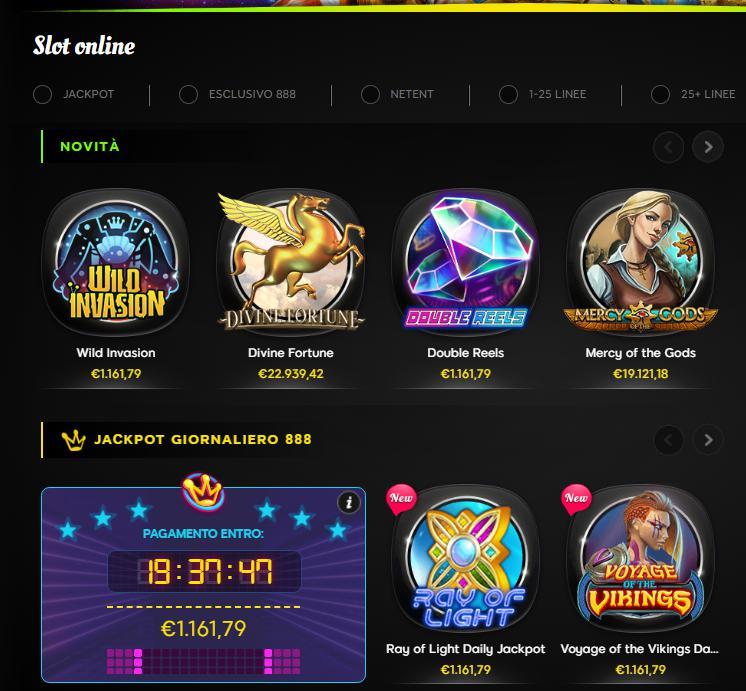 Slot Online esclusive 888.it