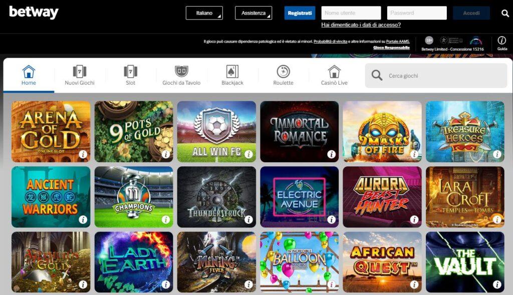 Giochi casino slot machine online betway